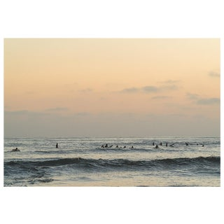 Ocean With Surfers in Pastel Photograph For Sale