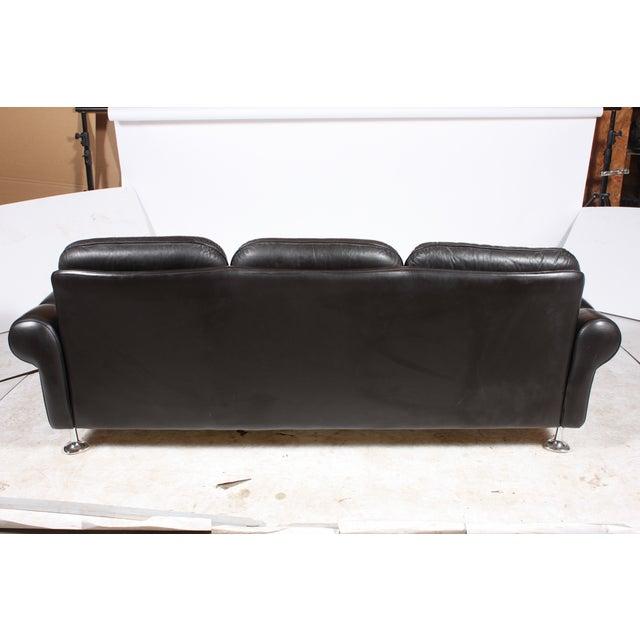 Danish Retro Black Sofa - Image 3 of 6