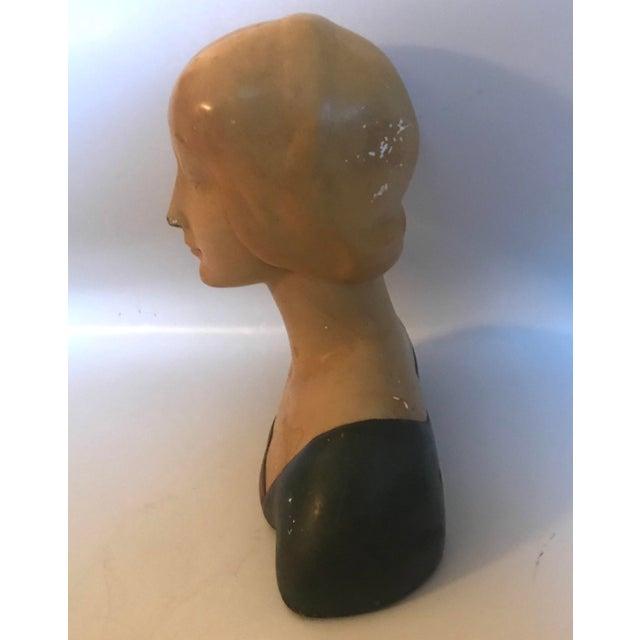 "Late 19th Century Vintage Donatello ""Unknown Woman"" Renaissance Revival Polychrome Plaster For Sale - Image 4 of 12"
