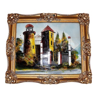 Reverse-Painted Glass Art For Sale