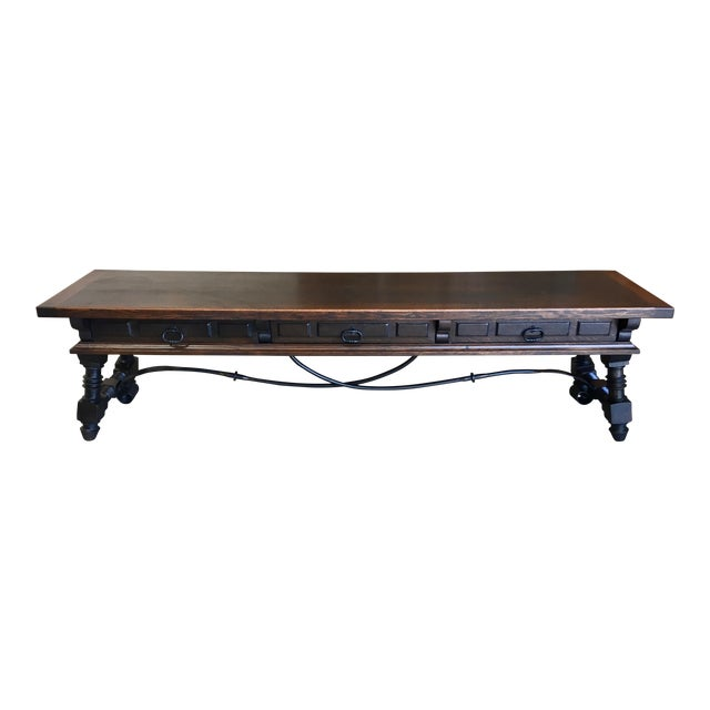 20th Century Spanish Style Console Table Buffet For Sale