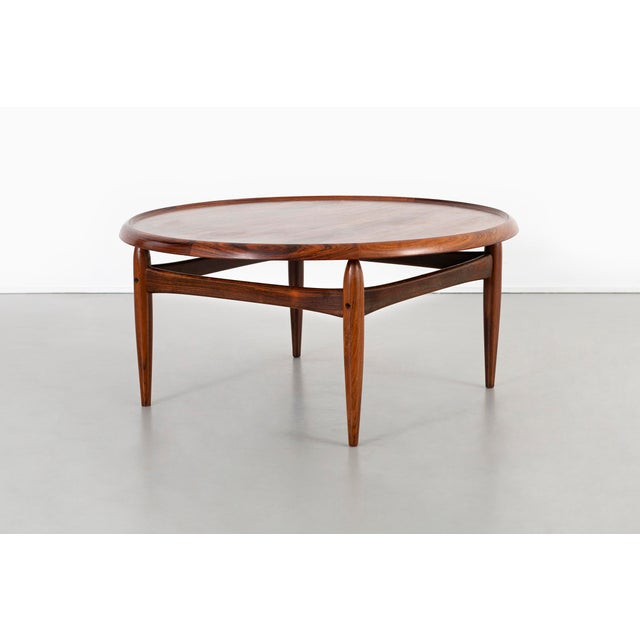 Brown Kurt Ostervig Mid-Century Modern Rosewood Coffee Table For Sale - Image 8 of 8