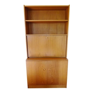 Mid-Century Danish Modern Teak Secretary For Sale