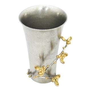 "Signed Michael Aram ""Bittersweet"" Metal Vase For Sale"
