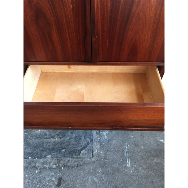 Mid Century Walnut Wood Tallboy Dresser - Image 11 of 11