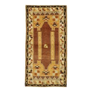 Vintage Turkish Oushak Prayer Rug - 02'09 X 05'03 For Sale