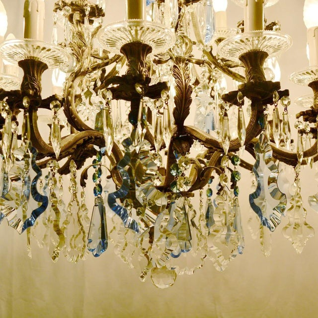 Metal Rococo Chandelier For Sale - Image 7 of 12