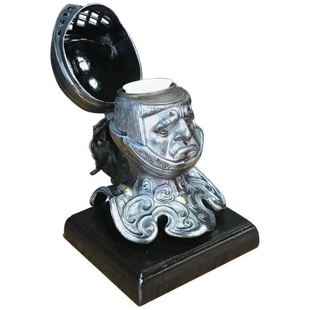 Tole Figural Knight Inkwell For Sale - Image 11 of 11