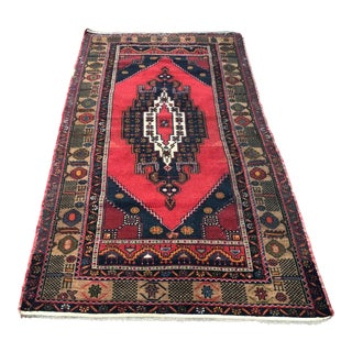 1960s Vintage Turkish Oushak Rug - 4′3″ × 8′ For Sale