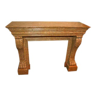 Charles 10th French Antique Marble Mantel For Sale