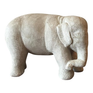 Heavy Carved Stone Elephant Statue