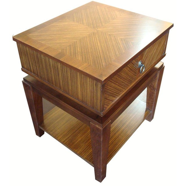 New Mid-Century Style End Table With Drawer - Image 3 of 6
