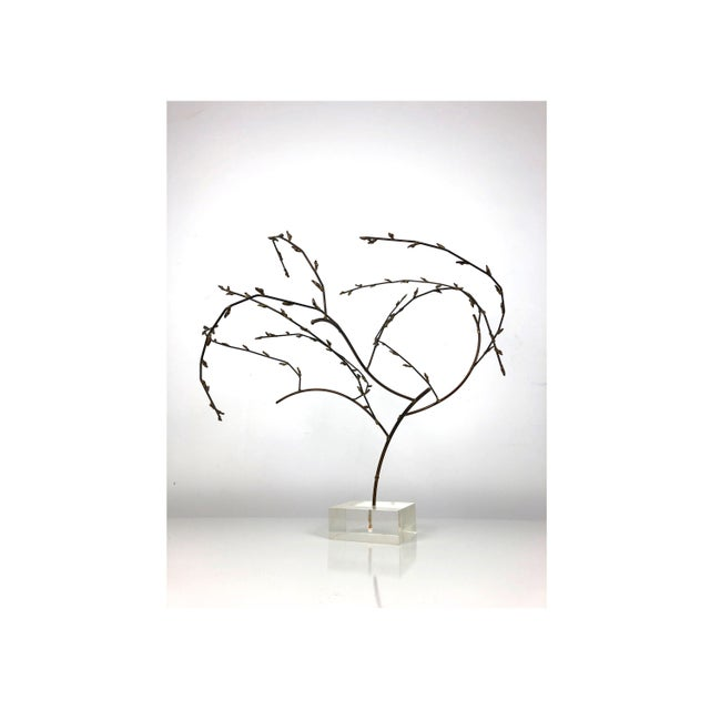 1970s Brutalist Brass Willow Tree Sculpture For Sale - Image 11 of 11
