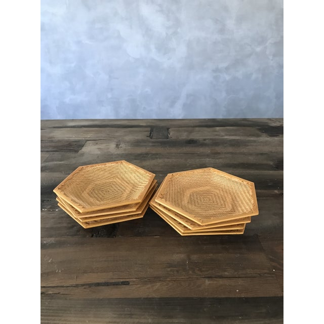 Wooden & Wicker Coasters - Set of 8 - Image 4 of 5