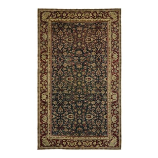 Antique India Agra with Emerald Field in Traditional Modern Style For Sale