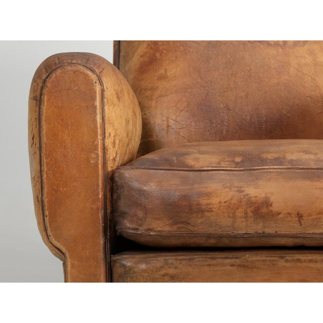 French Art Deco Club Chair Carefully Restored For Sale - Image 11 of 13