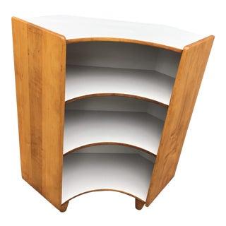 1970s Mid-Century Modern Corner Book Shelf For Sale