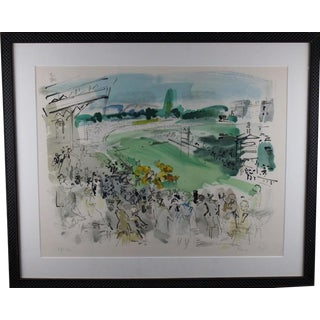 1950s Vintage Raoul Dufy Courses à Deauville Signed & Numbered Print For Sale