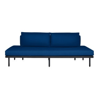 Avenue Armless Sofa in Pacific Blue For Sale