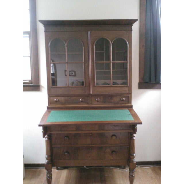 Antique Secretary Desk with Shelving - Image 4 of 9