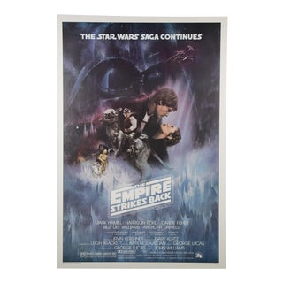 Original the Empire Strikes Back 1980 American Film Poster For Sale