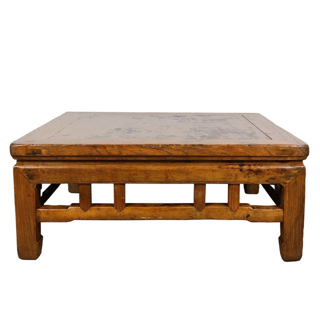 Antique Chinese Carved Kang Table/Coffee Table For Sale - Image 12 of 12