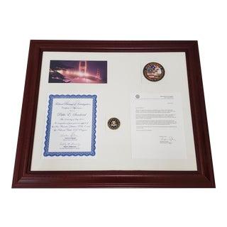 Framed Pablo Sandoval Federal Bureau of Investigation Recognition Letter Circa 2011 For Sale