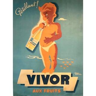 Oversized 1950s French Poster, Vivor For Sale