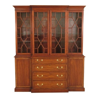 Henkel Harris Cherry 4 Door London Breakfront China Cabinet
