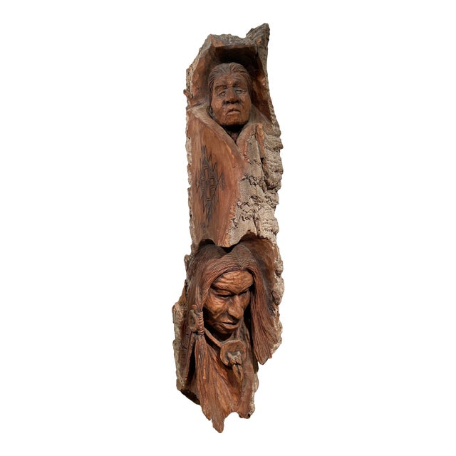 1980s Wood Carving by Art Oliver For Sale