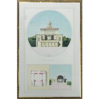 """""""Pavillon De Reunion"""" Architectural Plate For Sale"""