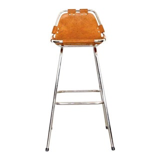 Charlotte Perriand - Les Arcs Bar Stool - Cognac For Sale