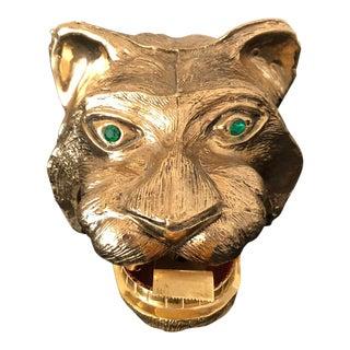 1960's Vintage Ted Arnold Gold Tiger Tape Dispenser For Sale