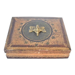 Vintage Florentine Card Box For Sale