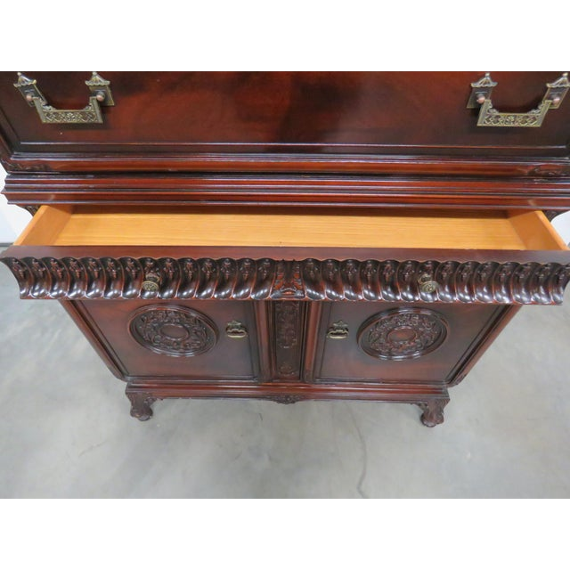 Chinese Chippendale Style Highboy For Sale In Philadelphia - Image 6 of 11