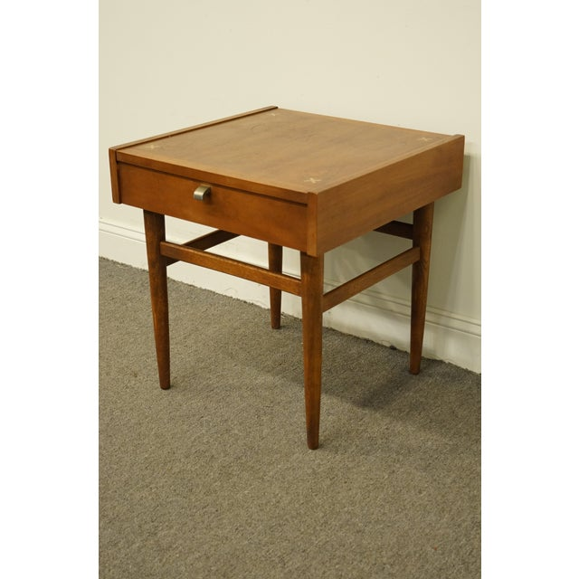 Sqaure Mid Century Modern Accent Chairs.Mid Century Modern American Of Martinsville 21 Square Accent End Table