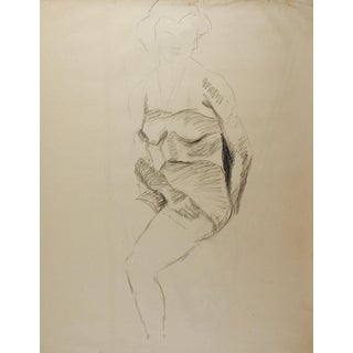 1950's Drawing Female Figure Study For Sale
