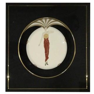 """Erte Framed Collector Plate """"Le Soleil"""" For Sale"""