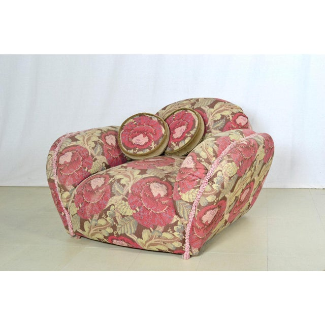 Phyllis Morris Floral Swivel Lounge Chair With Ottoman - Image 3 of 4