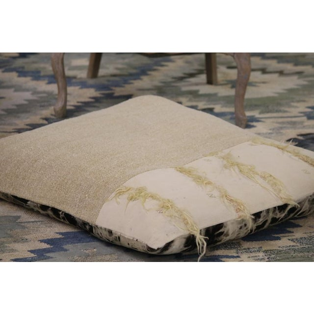 Contemporary Modern Patchwork Floor Pillow For Sale - Image 3 of 4