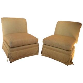 Henredon Slipper Chairs - A Pair