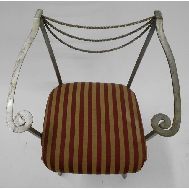 Neoclassical Inspired Metal Armchair - Image 7 of 8