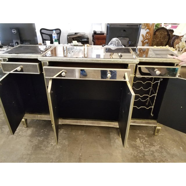 Z-Gallerie Borghese Mirrored Buffet For Sale - Image 5 of 10