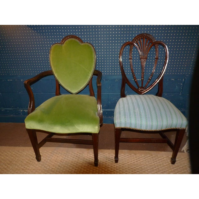 Mahogany Heart Shieldback Chairs - Set of 12 - Image 2 of 9