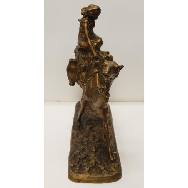 French Late 19th Century French Gilt Bronze Bedouin Camel Rider Sculpture For Sale - Image 3 of 7