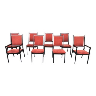 1970s Danish Modern Brazilian Rosewood Dining Chairs by Spottrup - Set of 8 For Sale