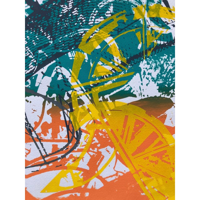 """1970s Abstract Silkscreen """"Orange Slices"""" For Sale - Image 4 of 7"""