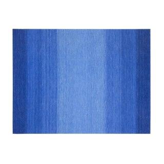 "Kilim Fields Degrade Blue Rug - 9'10"" x 12'11"" For Sale"