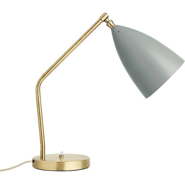 *NOTE: 4-5 WEEK LEAD TIME* Greta Magnusson Grossman 'Grasshopper' table lamp in anthracite gray. Designed in 1947 by...