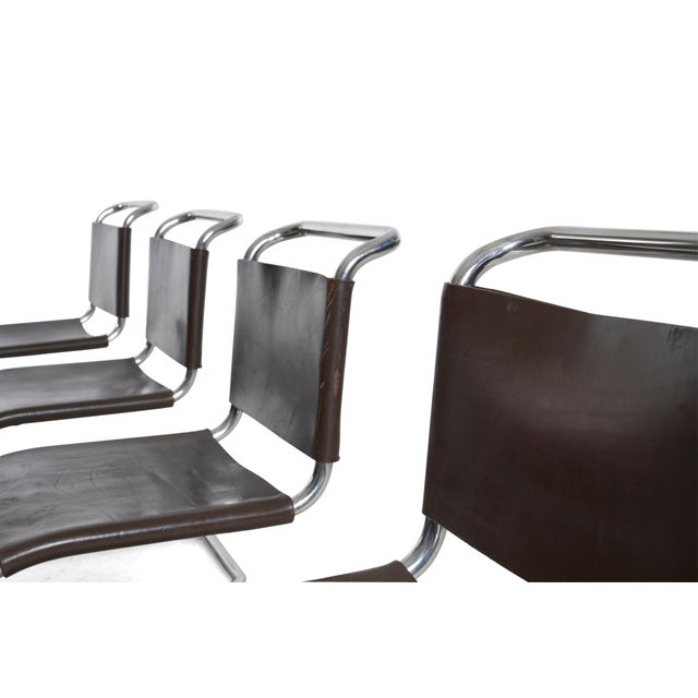 Mies Van Der Rohe Mr Chairs Set of 4 For Sale In Chicago - Image 6 of 8